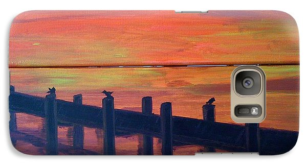 Galaxy Case featuring the painting Lake Illawarra At Sunset by Judi Goodwin