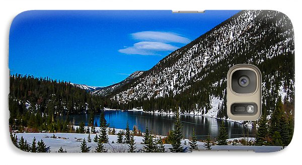 Galaxy Case featuring the photograph Lake In The Mountains by Shannon Harrington