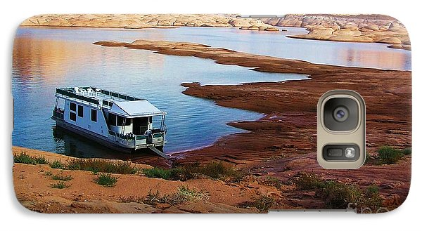 Galaxy Case featuring the photograph Lake Powell Houseboat by Michele Penner