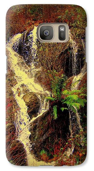 Galaxy Case featuring the photograph Lake Shasta Waterfall 3 by Garnett  Jaeger
