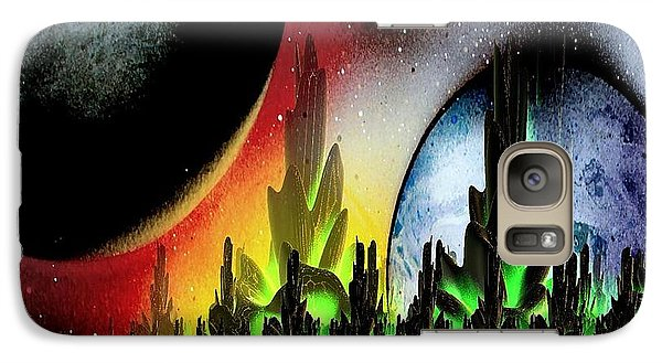 Galaxy Case featuring the mixed media Lake Venus by Greg Moores