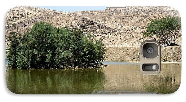 Galaxy Case featuring the photograph Lake Yeruham 04 by Arik Baltinester