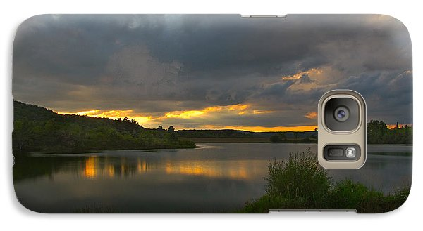 Galaxy Case featuring the photograph Lakeside Sunset by Cindy Haggerty