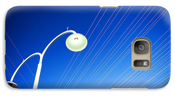 Galaxy Case featuring the photograph Lamp Post And Cables by Yew Kwang