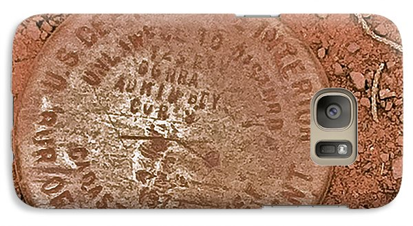 Galaxy Case featuring the photograph Land Survey Marker by Bill Owen