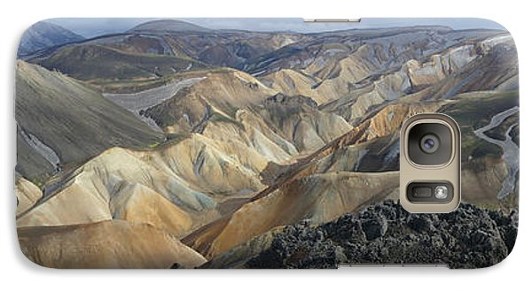 Galaxy Case featuring the photograph Landmannalaugar Panorama 1 by Rudi Prott