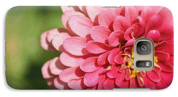 Galaxy Case featuring the photograph Large Pink Zinnia by Donna  Smith