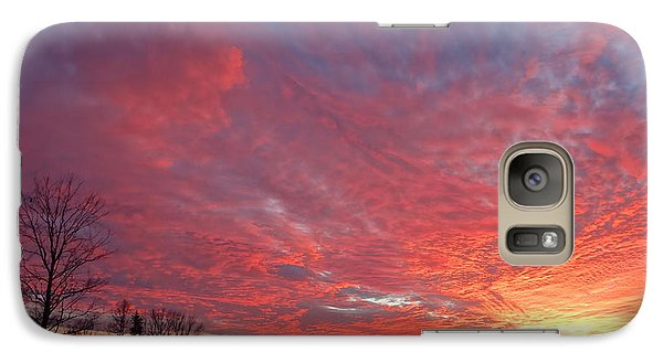 Galaxy Case featuring the painting Lascassas Sunset One by Carol Berning