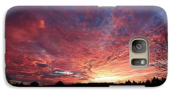 Galaxy Case featuring the painting Lascassas Sunset Two by Carol Berning