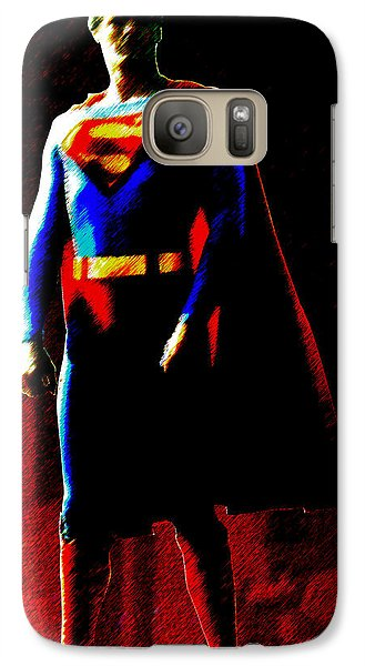 Galaxy Case featuring the digital art Last Son Of Krypton by Saad Hasnain