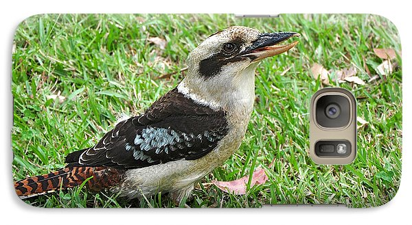 Laughing Kookaburra Galaxy Case by Kaye Menner