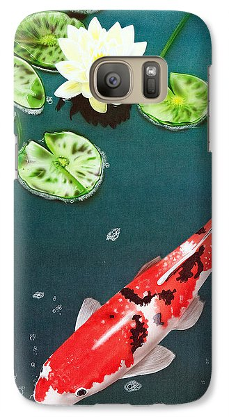 Galaxy Case featuring the painting Lazy Day by Dan Menta