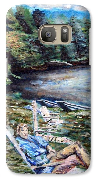 Galaxy Case featuring the painting Lazy Day On The Mill Pond by Denny Morreale
