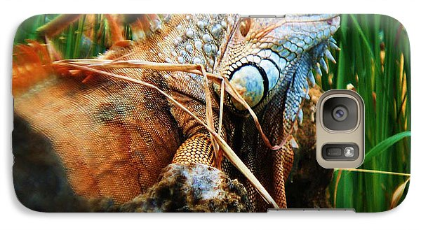 Galaxy Case featuring the photograph Lazy Lizard Lounging by Joy Braverman