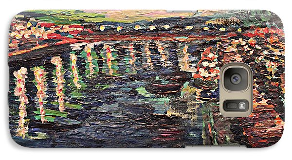 Galaxy Case featuring the painting Le Seine De Nuit by Denny Morreale