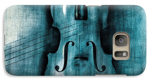 Violin Galaxy S7 Case - Le Violon Bleu by Hakon Soreide