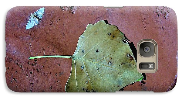 Galaxy Case featuring the photograph Leaf Libretto by Britt Runyon