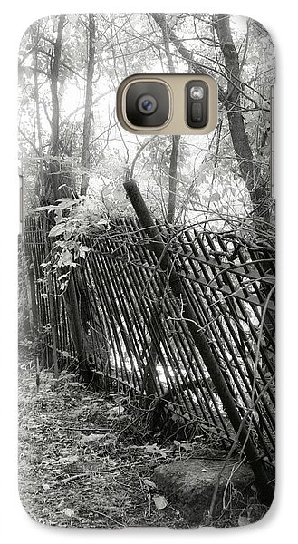 Galaxy Case featuring the photograph Leaning Fence by Mary Almond