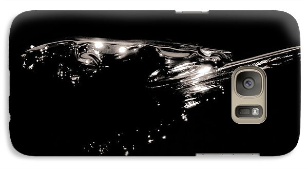 Galaxy Case featuring the photograph Leaping Cat by Bob Wall
