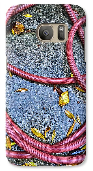 Galaxy Case featuring the photograph Leaves And Hose by Bill Owen