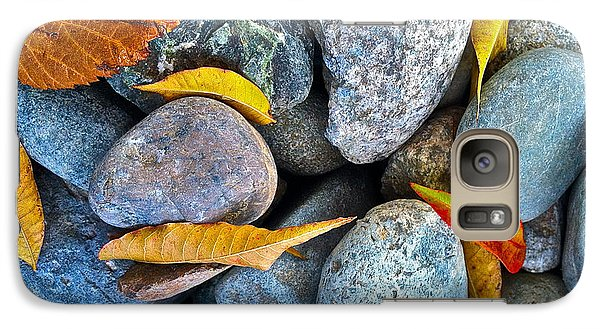 Galaxy Case featuring the photograph Leaves And Rocks by Bill Owen