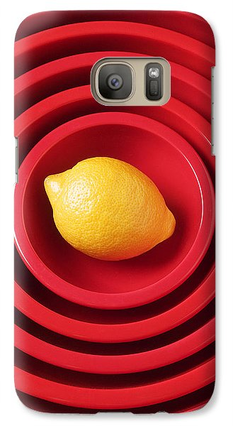Lemon Galaxy S7 Case - Lemon In Red Bowls by Garry Gay