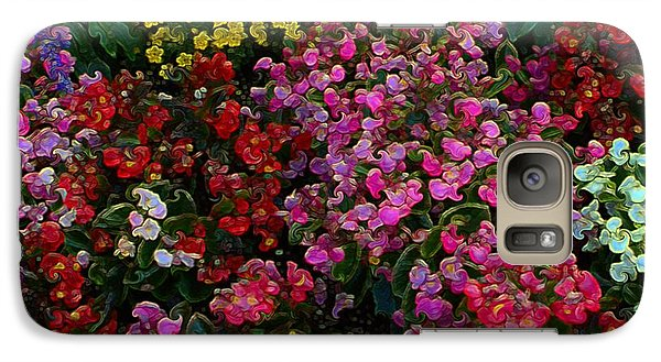 Galaxy Case featuring the mixed media les fleurs II by Terence Morrissey
