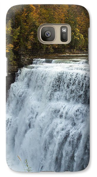Galaxy Case featuring the photograph Letchworth Middle Falls by Darleen Stry