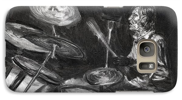 Galaxy Case featuring the drawing Levon Helm In Charcoal by Denny Morreale