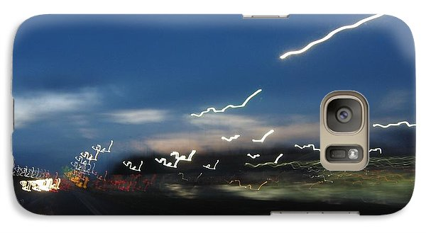 Galaxy Case featuring the photograph Lights After Dusk by Maciek Froncisz