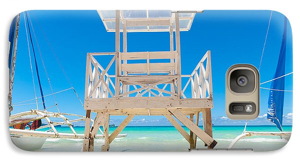 Galaxy Case featuring the photograph Life Guard Tower by Hans Engbers