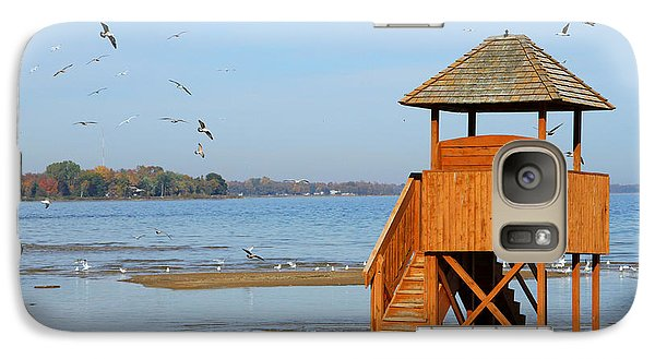 Galaxy Case featuring the photograph Lifeguard Lookout by Mark J Seefeldt