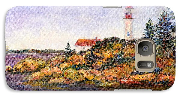 Galaxy Case featuring the painting Lighthouse by Lou Ann Bagnall