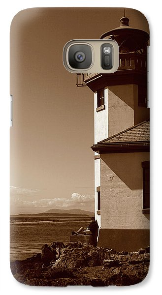 Galaxy Case featuring the photograph Lighthouse San Juan by Lorraine Devon Wilke