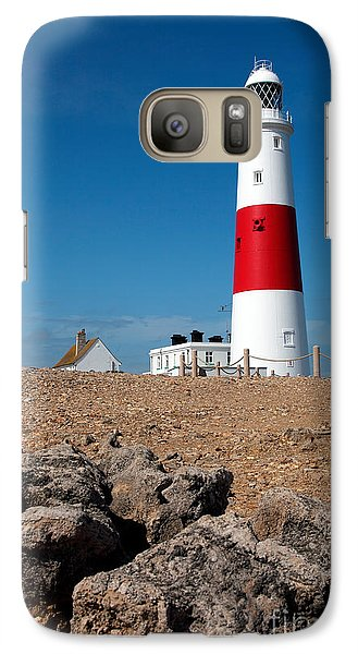 Galaxy Case featuring the photograph Lighthouse Vertical by Milena Boeva