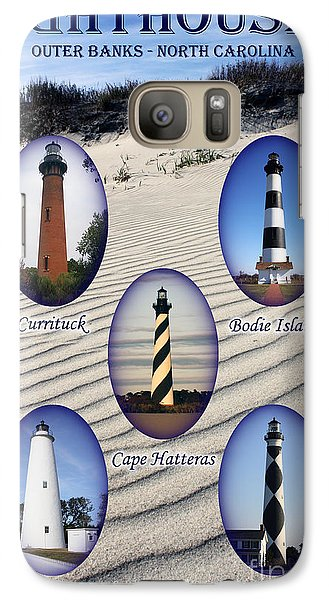 Galaxy Case featuring the photograph Lighthouses Of The Outer Banks by Tony Cooper