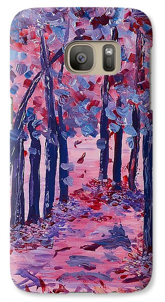 Galaxy Case featuring the painting Lilac Avenue by Judi Goodwin