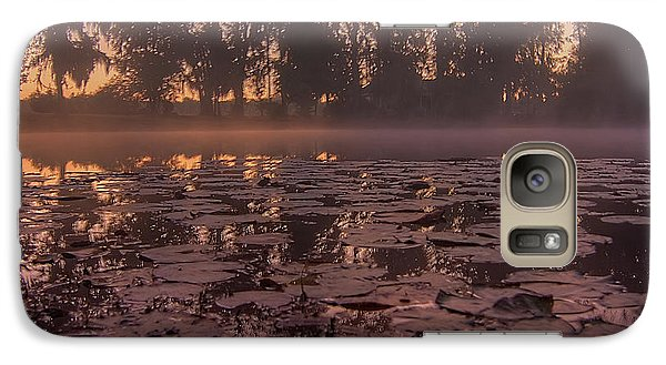 Galaxy Case featuring the photograph Lily Pads In The Fog by Dan Wells