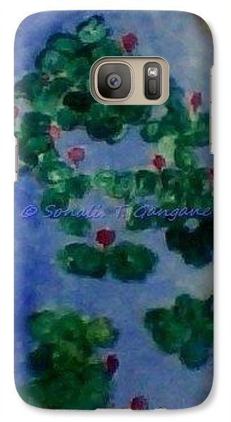Galaxy Case featuring the painting Lily Pond by Sonali Gangane
