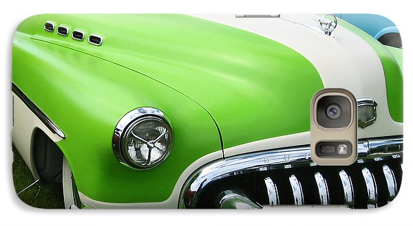 Galaxy Case featuring the photograph Lime Green 1950s Buick by Kym Backland