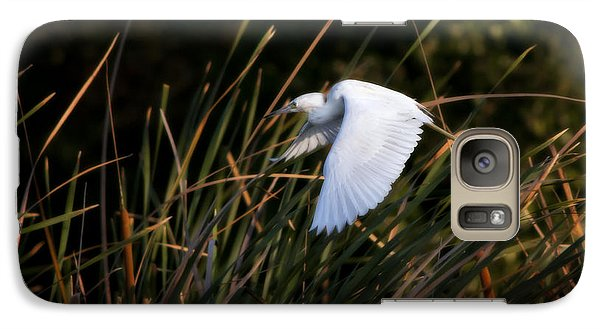 Galaxy Case featuring the photograph Little Blue Heron Before The Change To Blue by Steven Sparks