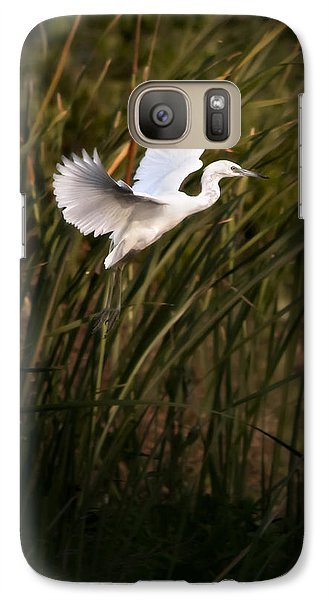 Galaxy Case featuring the photograph Little Blue Heron On Approach by Steven Sparks