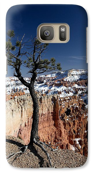Galaxy Case featuring the photograph Living On The Edge by Karen Lee Ensley