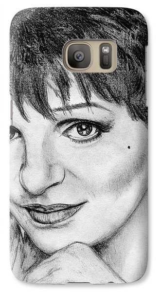 Galaxy Case featuring the drawing Liza Minnelli In 2006 by J McCombie