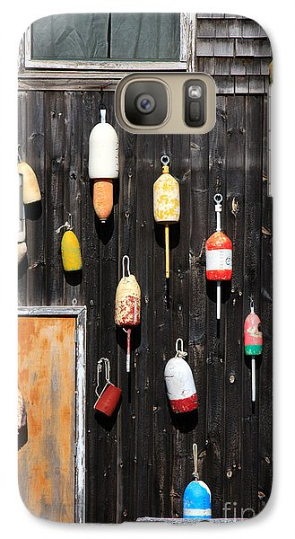 Galaxy Case featuring the photograph Lobster Shack With Brightly Colored Buoys by Karen Lee Ensley
