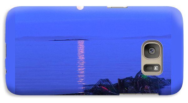 Galaxy Case featuring the photograph Lobstering Moon by Francine Frank