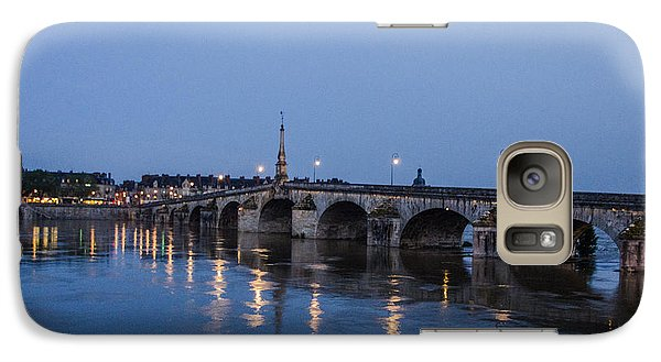 Galaxy Case featuring the photograph Loire River By Night by Marta Cavazos-Hernandez