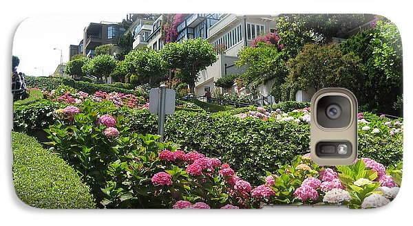 Galaxy Case featuring the photograph Lombard Street by Dany Lison