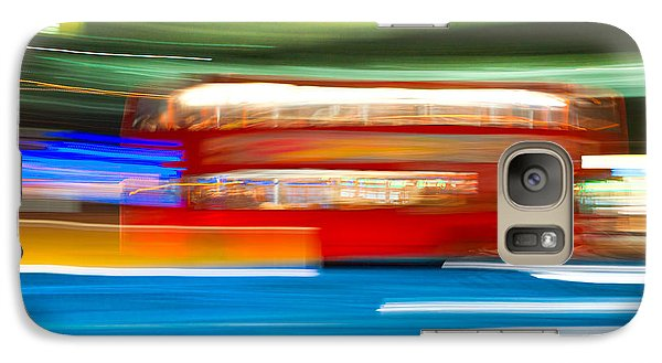 Galaxy Case featuring the photograph London Bus Motion by Luciano Mortula