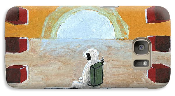 Galaxy Case featuring the painting Loneliness Or The Thing From Another World by Raffaella Lunelli